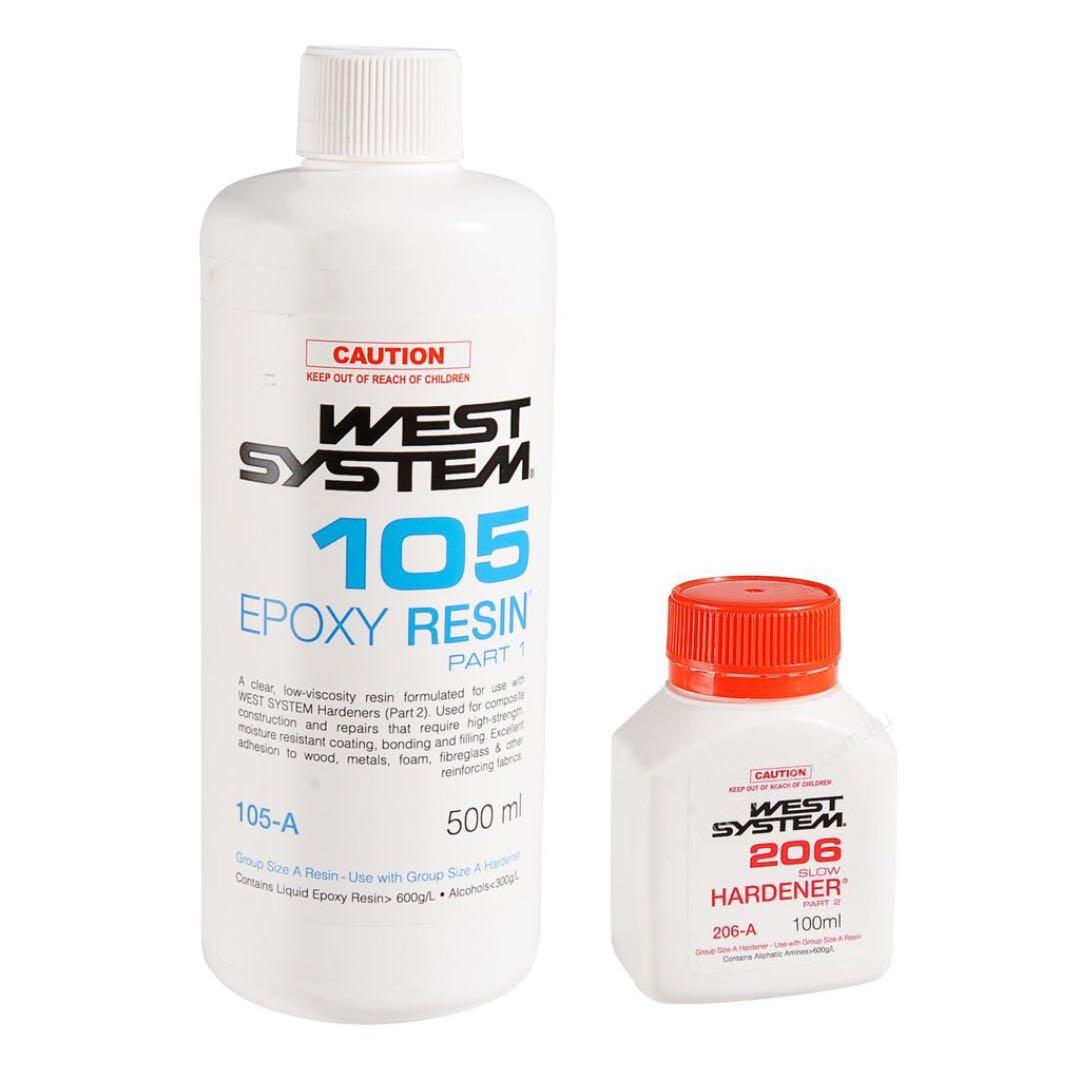Epoxy Lamination & Repairs ( West System - 105/206 ) - 600ML kit
