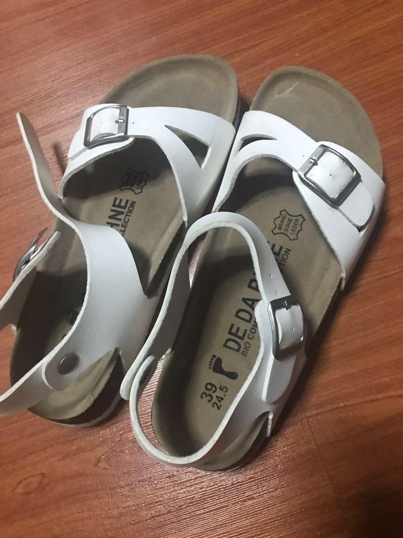 7df42391d29 Fake Birkenstock s white sandal