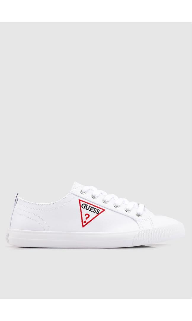 Guess Triangle Logo White Sneakers