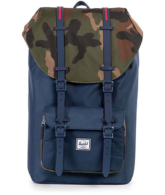 df126452e24 Herschel Supply Co. Little America Navy & Woodland Camo 25L Backpack ...