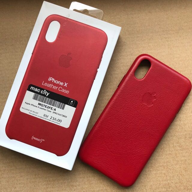 big sale f818c ff204 Iphone X Leather Case (PRODUCT RED) from Mac City