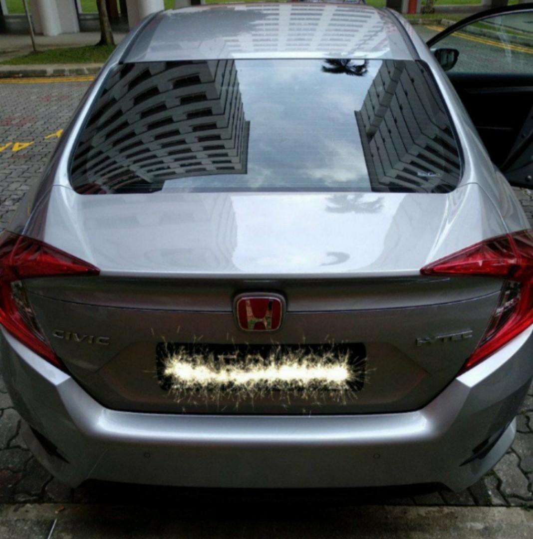 Jdm Red Base Silver H Emblem For Honda Vezel Hrv Shuttle Mobilio