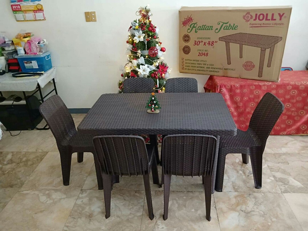 Jolly Rattan Tables Chairs Home Furniture Furniture Fixtures Others On Carousell