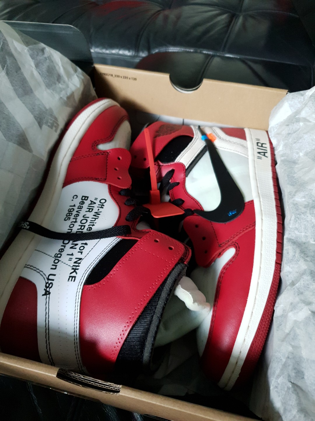 3b36cbee23d987 Jordan 1 Retro High Off-White Chicago