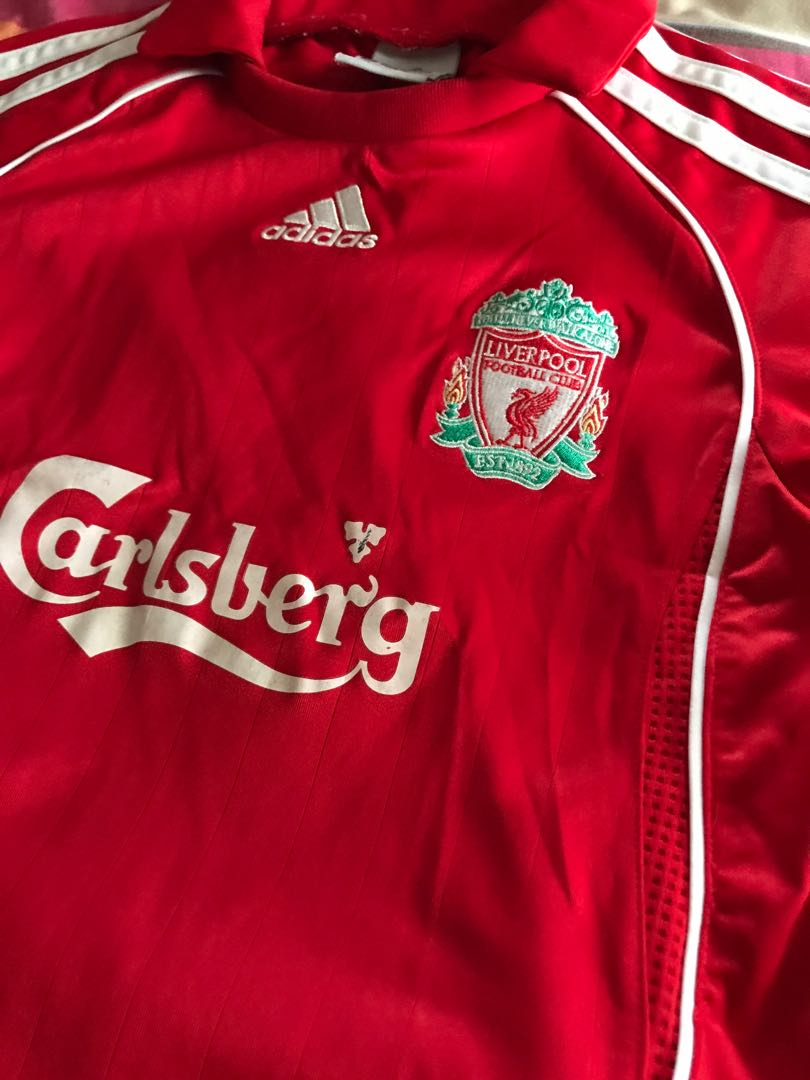 newest dfac2 9b2de Liverpool jersey set for boys