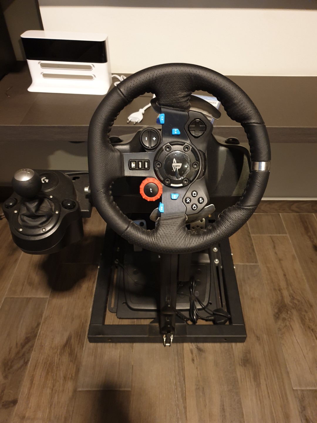 Logitech G29 Driving Force Racing Wheel Shifter Floor Pedals Next Level Racing Wheel Stand Lite Toys Games Video Gaming Gaming Accessories On Carousell