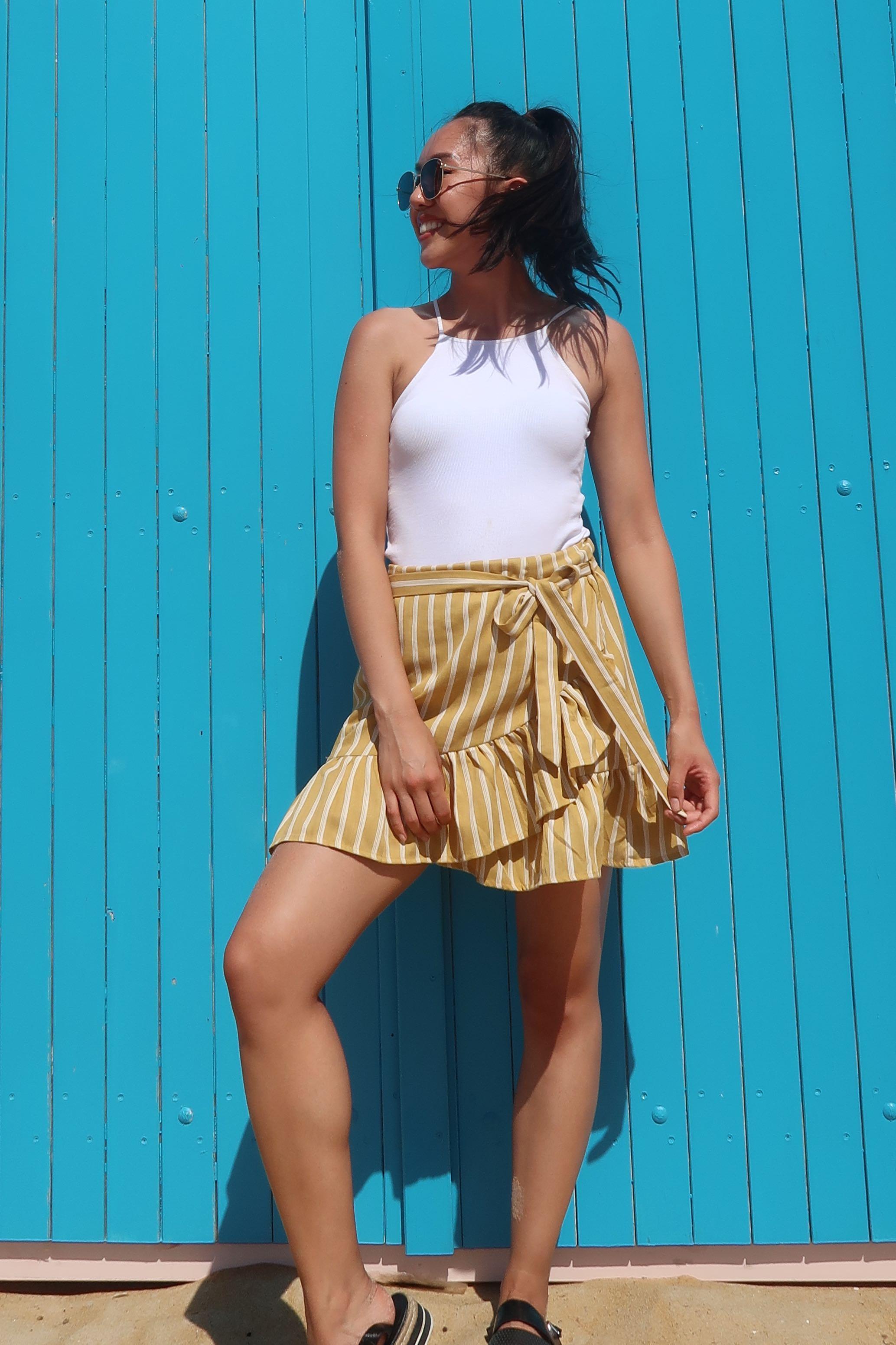Mustard Stripe Skirt