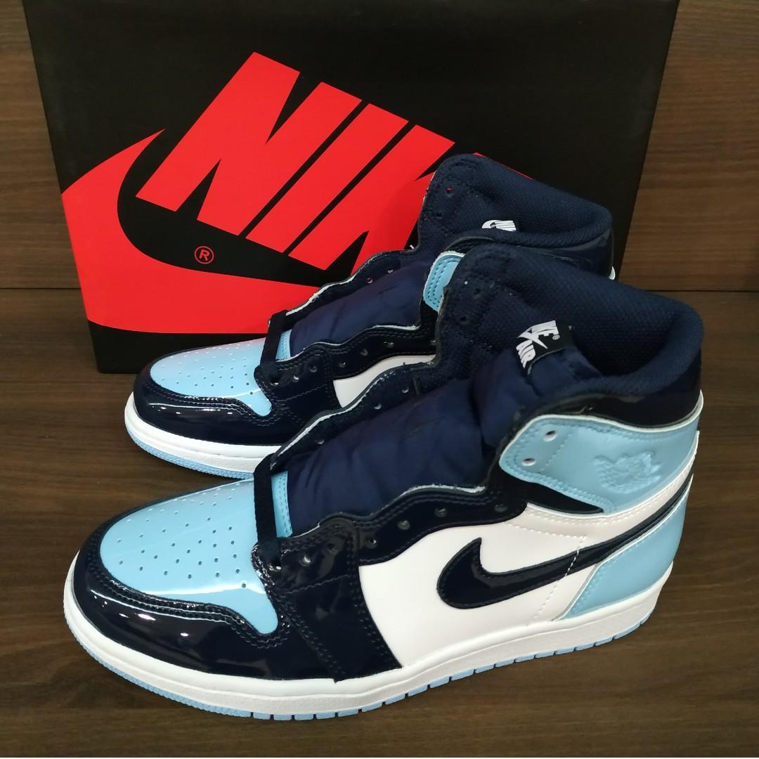 9b3960a2244 Nike Air Jordan 1 Retro High UNC Patent
