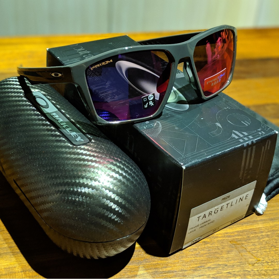 a77ec4676a48 Oakley Targetline Sunglasses • Carbon Frame • PRIZM Road Lens OO9397 ...