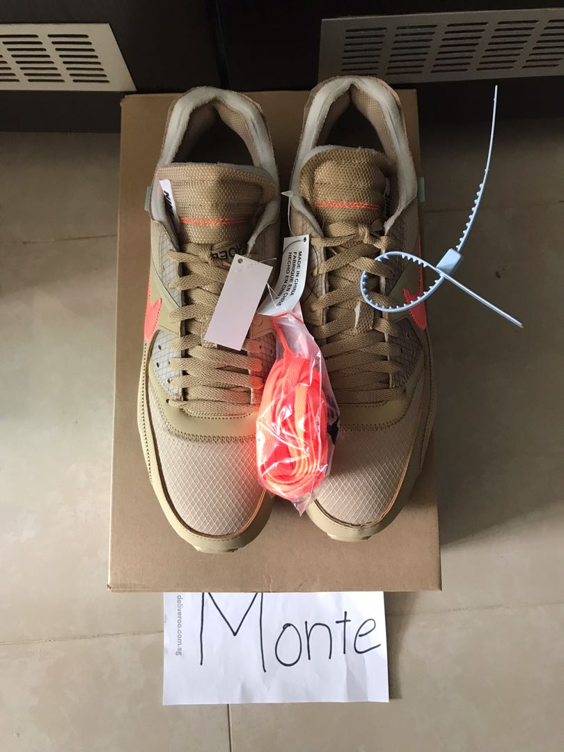 09e5cae644 Off White x Nike Air Max 90 Desert Ore, Men's Fashion, Footwear, Sneakers  on Carousell