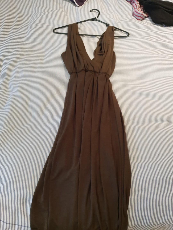 "Piper lane size 10 khaki coloured dress ""worn once"""