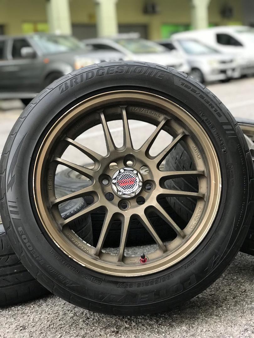 rays re30 thailand 15 inch sports rim myvi tyre 70%