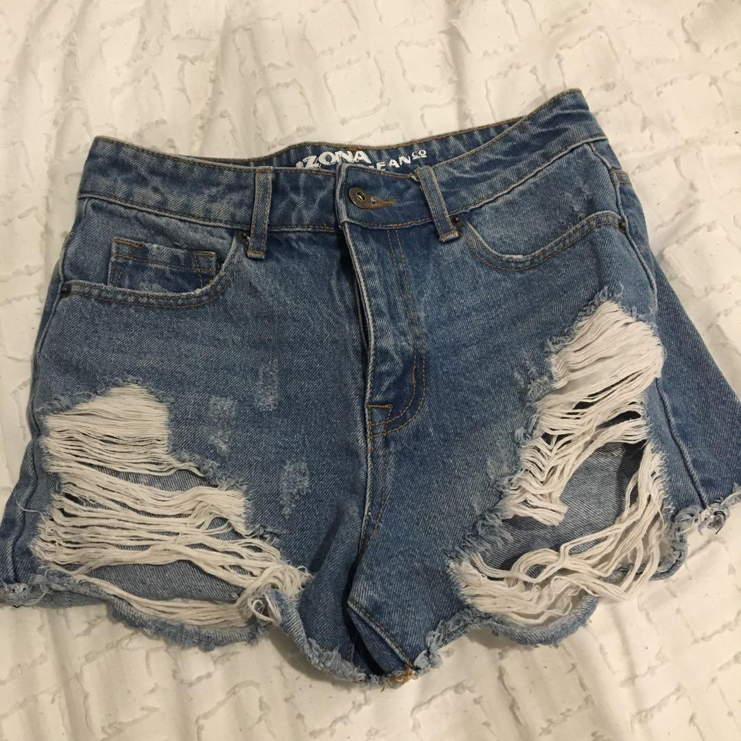 Ripped Arizona Shorts