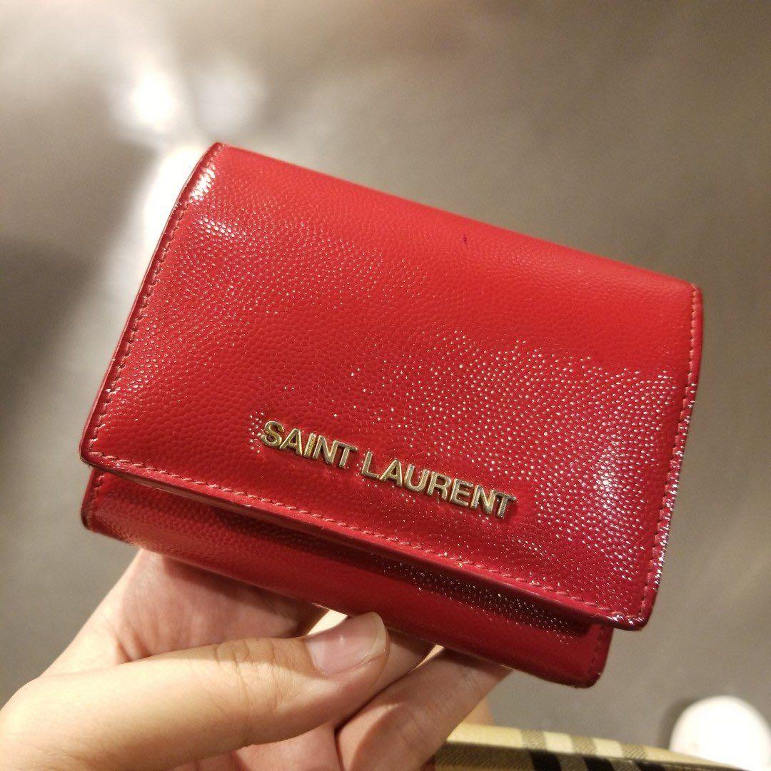 Saint Laurent YSL wallet 漆皮銀包