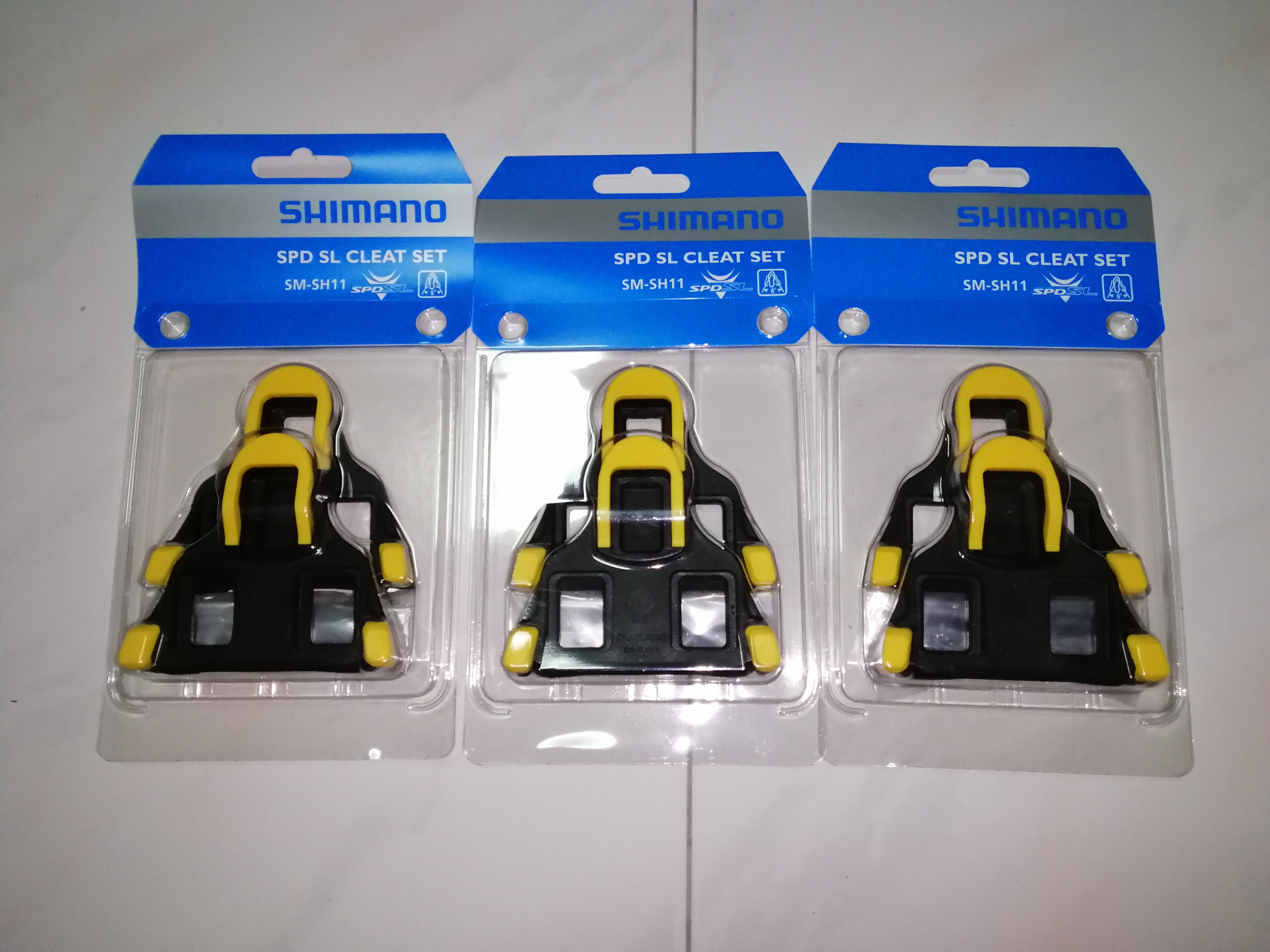 98a708de418e SHIMANO SPD-SL SH11 YELLOW PEDAL CLEATS, Bicycles & PMDs, Parts &  Accessories on Carousell