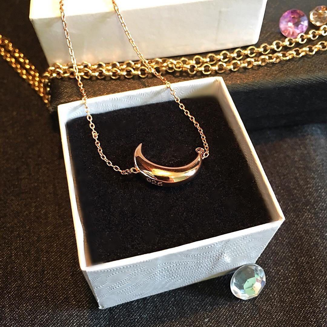 """Sterling silver 14 Kt rose gold plated chain 16"""""""