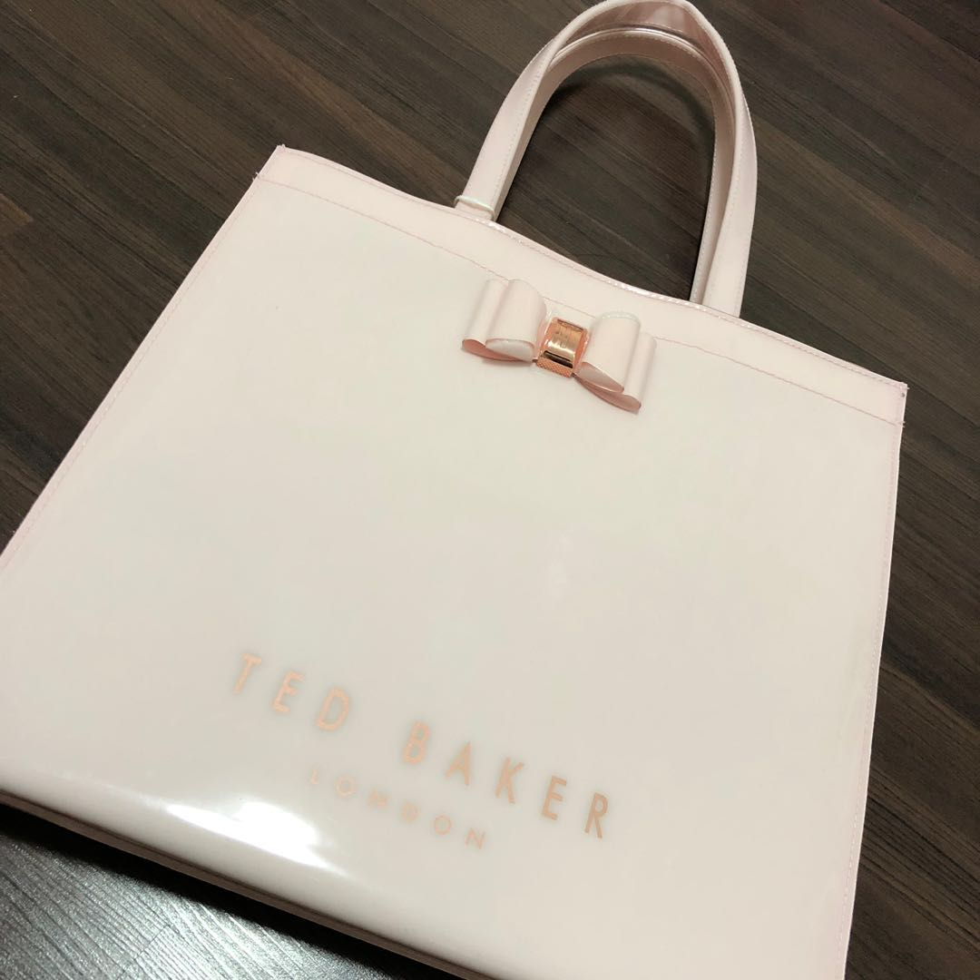 77b9a757602 Ted Baker Pink Large Bow Detail Hand Tote Bag, Women's Fashion, Bags ...