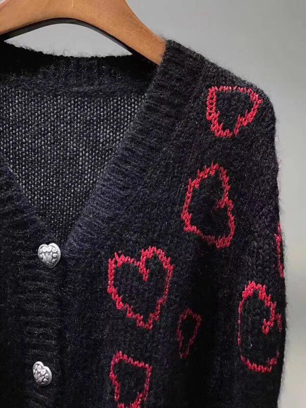 The Kooples 羊毛海馬毛針織外套 開衫