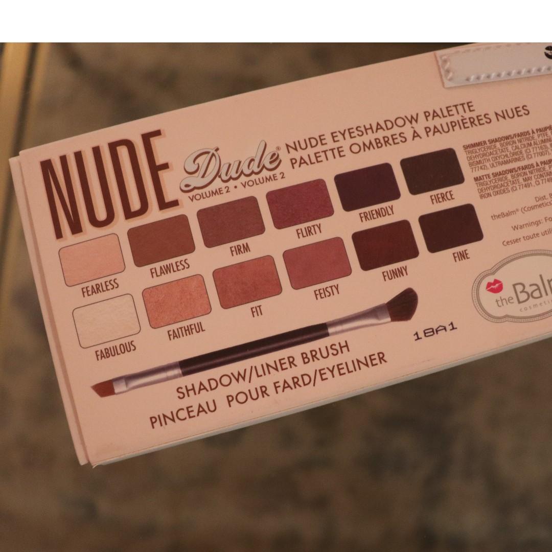 TheBalm Nude Dude Volume 2 Nude Eyeshadow Palette 12 Shadows Brand NEW