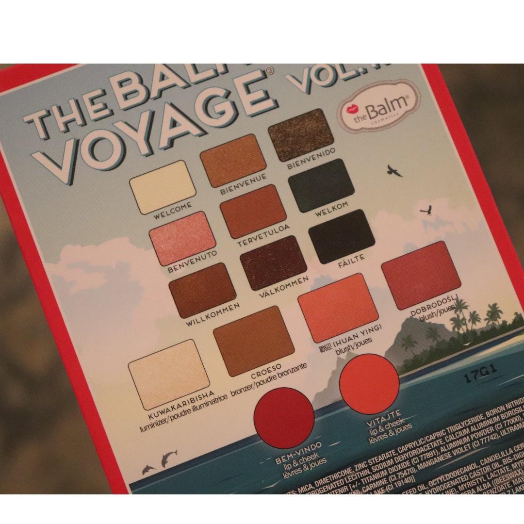 TheBalm The Balm Voyage Vol. II Travel Palette Eyeshadow Lip Bronzer Blush