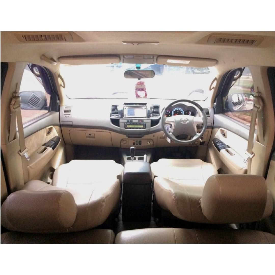 Toyota Fortuner G Diesel AT VNT 2012 Hitam, Km 80   Dp 37,9 Jt, No Pol Ganjil
