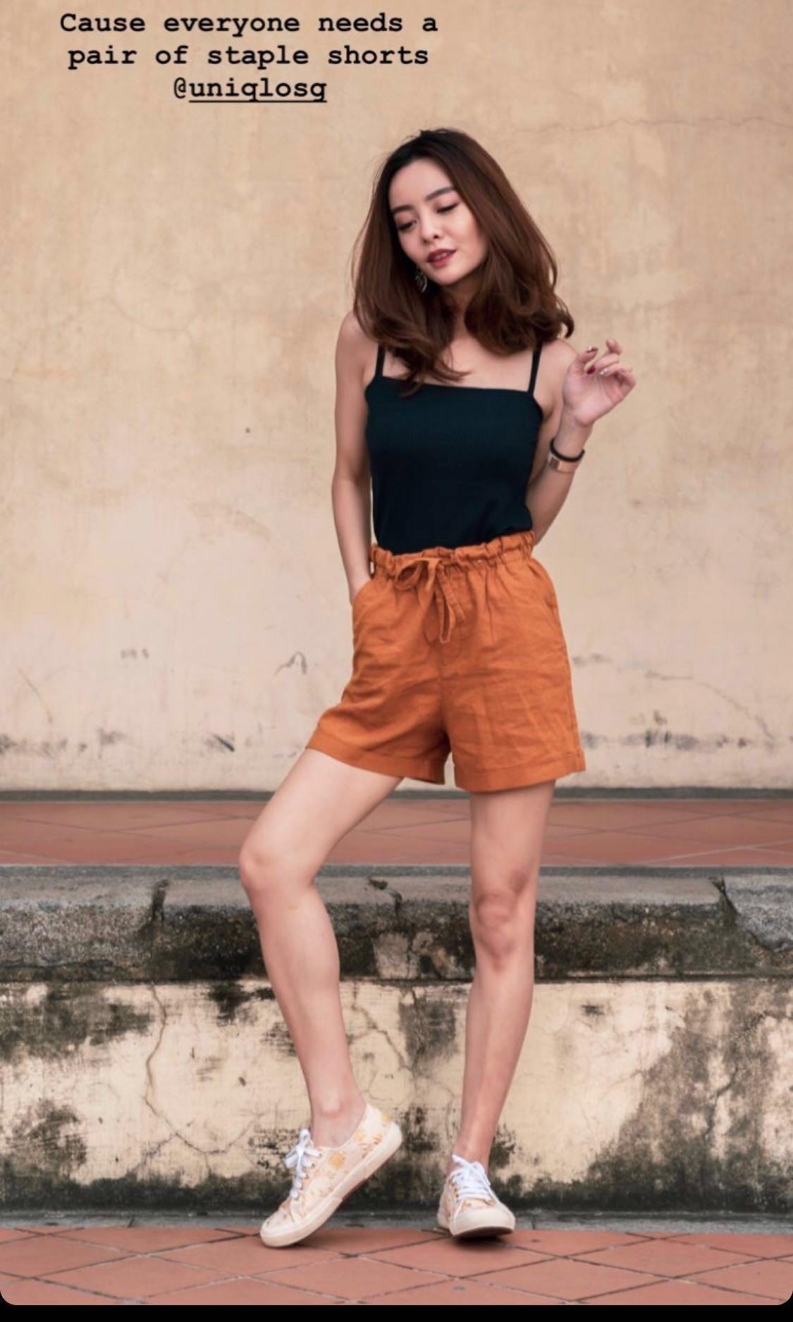 uniqlo cotton shorts