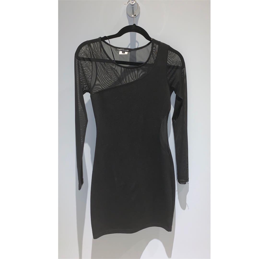 Urban Planet Mesh Black Dress