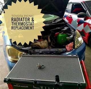 Toyota Picnic:- Radiator & Thermostat replacements