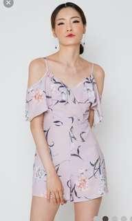 3d790e829f8 Aiden Cold Shoulder Floral Playsuit