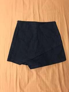 全新女裝深藍色裙褲
