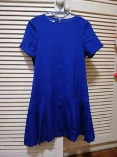 🚚 BN The stage walk drop waist dress in electric blue