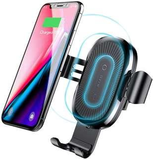 Wireless charger, Baseus Cell Phones Accessories Car Mount, Air Vent Phone Holder 10W Charge for Samsung Galaxy S8, S7/S7 Edge, Note 8 5 and 5W Standard Charge for iPhone X, 8/8 Plus