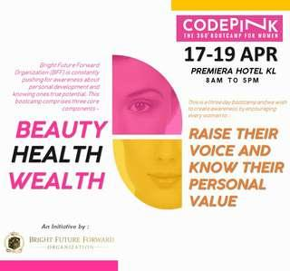 Pink code booth camp