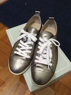 韓國買休閒鞋-銀色