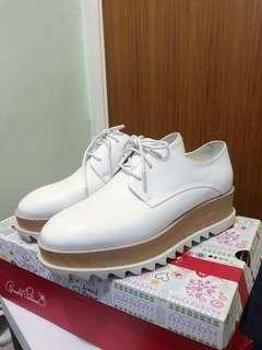 PED DER RED白色厚底鞋