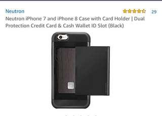 Neutron iPhone 7/8 Case with Card Holder  (Black)