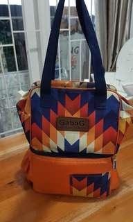 Gabag tas asi orange tipe nury cooler bag muat banyak FREE 2 ICE GEL cantik batik motif