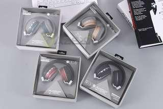 New Style Wireless Headset Metal Sport-beat Bluetooth headset wired headphone with Radio headset MIC for iPhone Samsung Huawei (GREY INSTOCK)