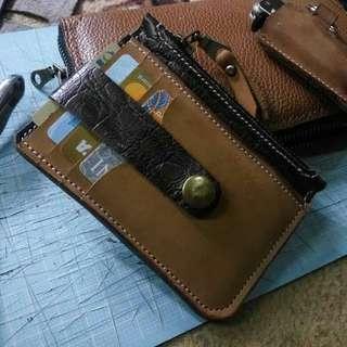 Dompet kartu dan uang,mini,kece bahan kulit