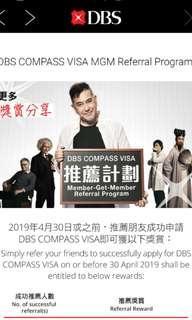 dbs member-get-member credit card promo