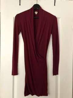ARITZIA Wilfred Burgundy Red Dress