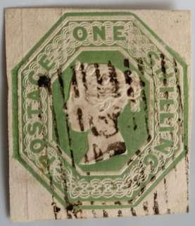 Embossed 10/- Great Britain Stamp