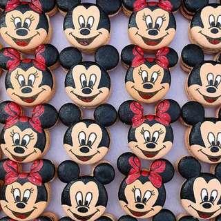 Mickey and Minnie Macarons