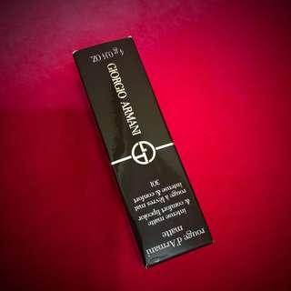 🚚 GIORGIO ARMANI奢華定製柔霧唇膏 💄黑管霧面唇膏#301