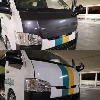 Toyota Hiace Wrap/decals services/matching works