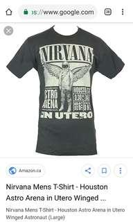 Split/open back Nirvana Tee (In Utero)