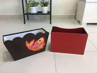 Large Storage Boxes Baskets ( 2 pc )