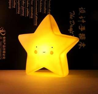 🚚 [Pre-order - 2 for $22] Small night nursery LED table lamp light - Little Yellow glowing star