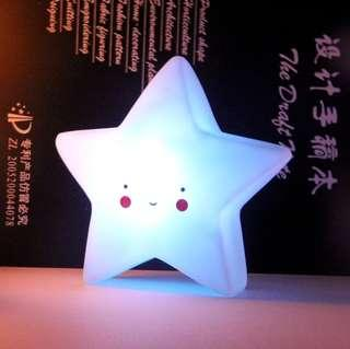 🚚 [In Stock - 2 for $22] Small night nursery LED table lamp light - Little blue glowing star
