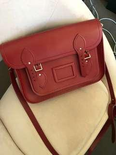Red Cambridge Satchel